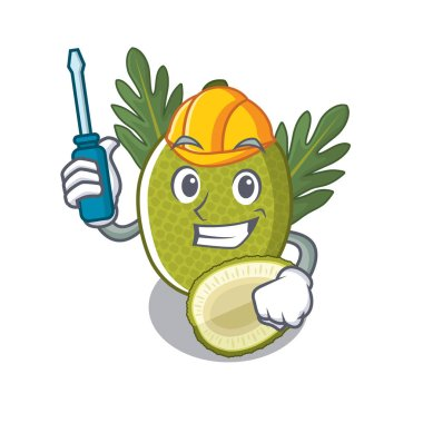 Automotive breadfruit isolated with in the mascot