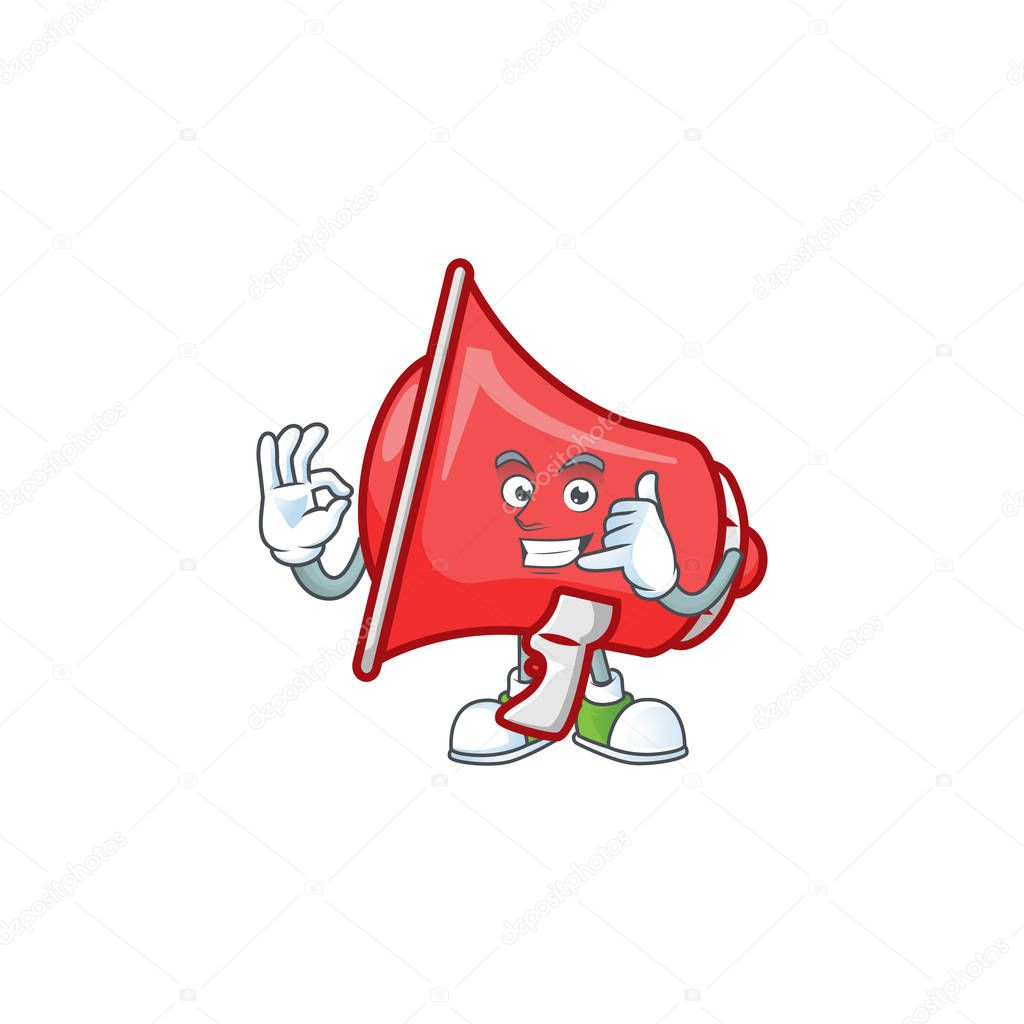 call me red loudspeaker with cartoon mascot style vector illustration premium vector in adobe illustrator ai ai format encapsulated postscript eps eps format wdrfree