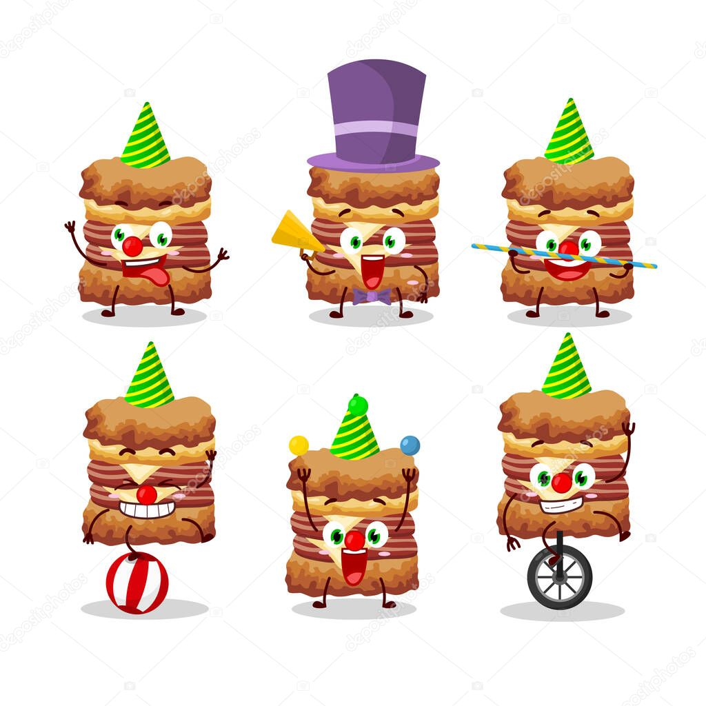 cartoon character of chicken sandwich with various circus shows vector illustration premium vector in adobe illustrator ai ai format encapsulated postscript eps eps format wdrfree