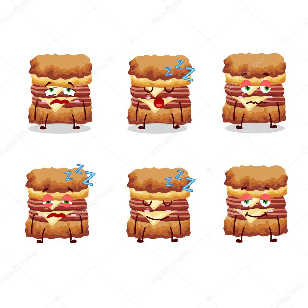 cartoon character of chicken sandwich with sleepy expression vector illustration premium vector in adobe illustrator ai ai format encapsulated postscript eps eps format wdrfree