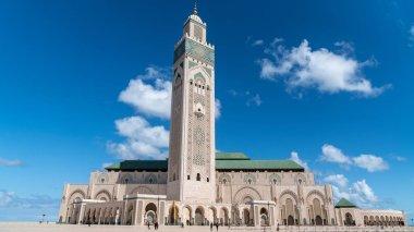 Casablanca, Morocco -April 2018: The Hassan II Mosque is a mosque in Casablanca, Morocco. It is the largest mosque in Morocco and the 7th largest in the world.