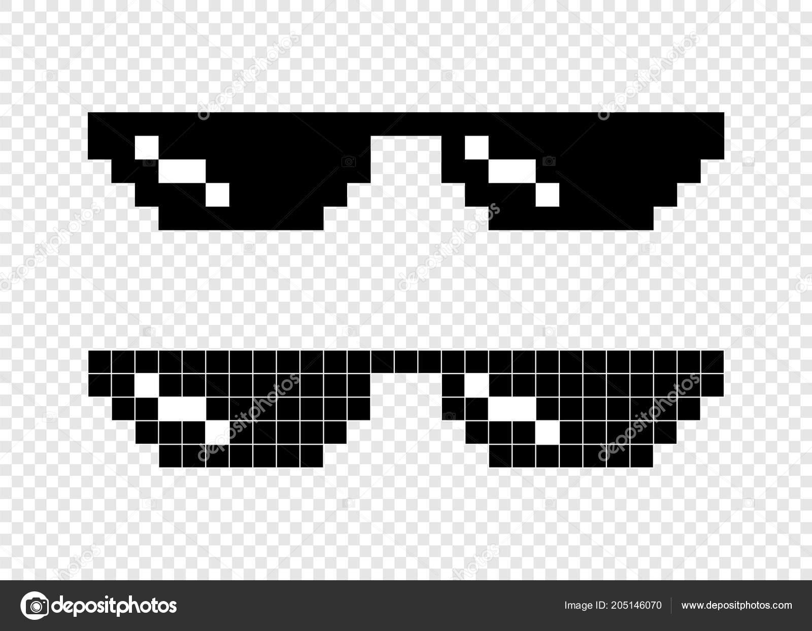 3d3478db667d Glasses Pixel Bit Transparent Background — Stock Vector © smile3377 ...