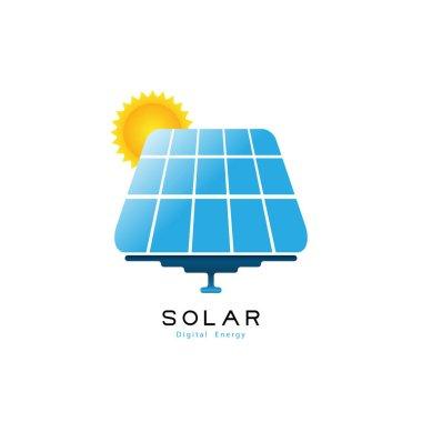 Logo Solar panels. Solar energy logo. Business concept or brand company