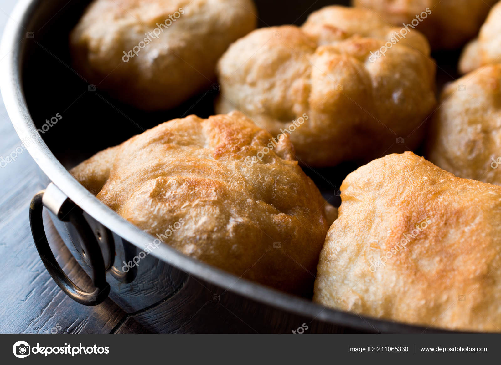 Turkish Fried Dough Crumpets Pisi Halka Traditional Homemade
