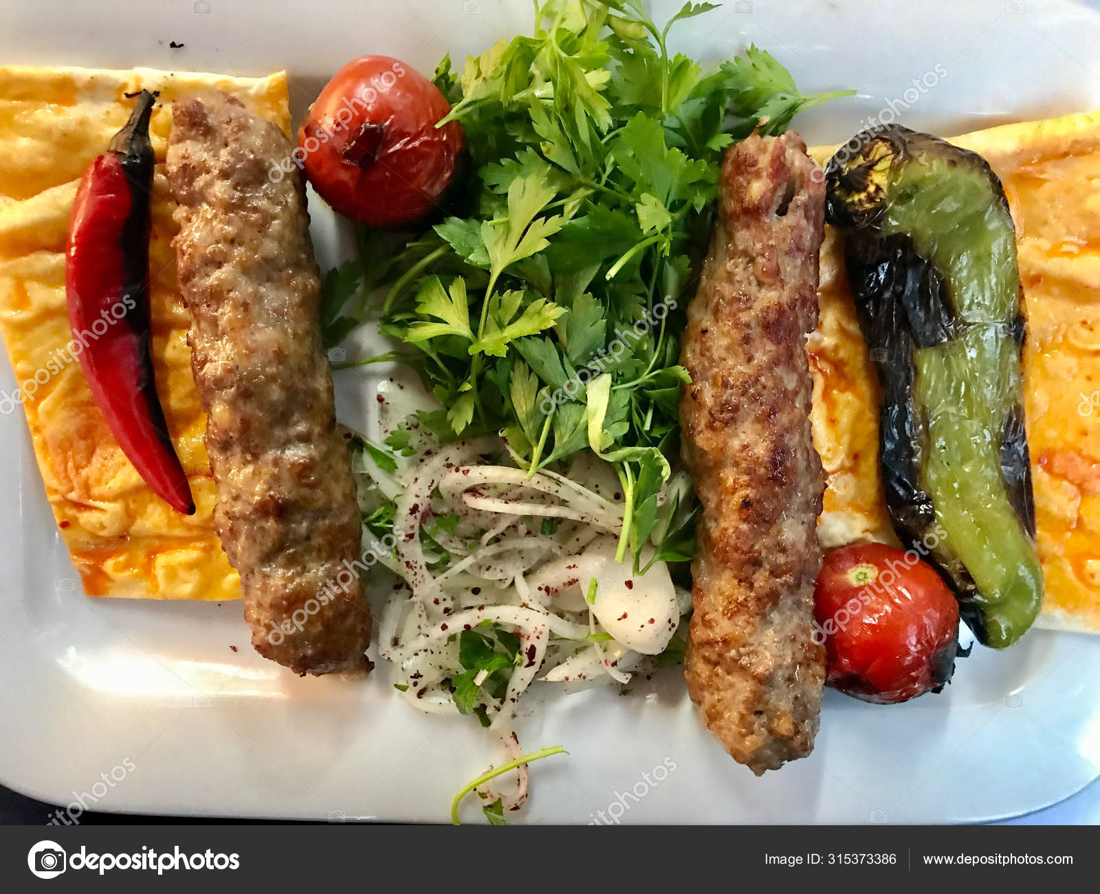 Turkish Kebab Served With Plate As Portion At Local Restaurant Stock Photo Image By C Alp Aksoy 315373386
