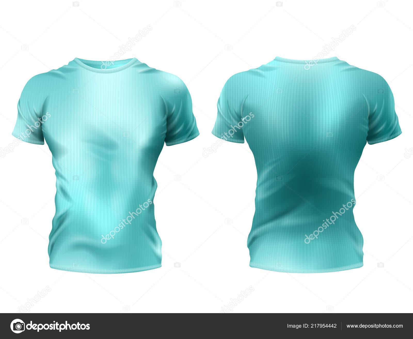 Vector male t-shirt mockup, unisex sportswear — Stock Vector