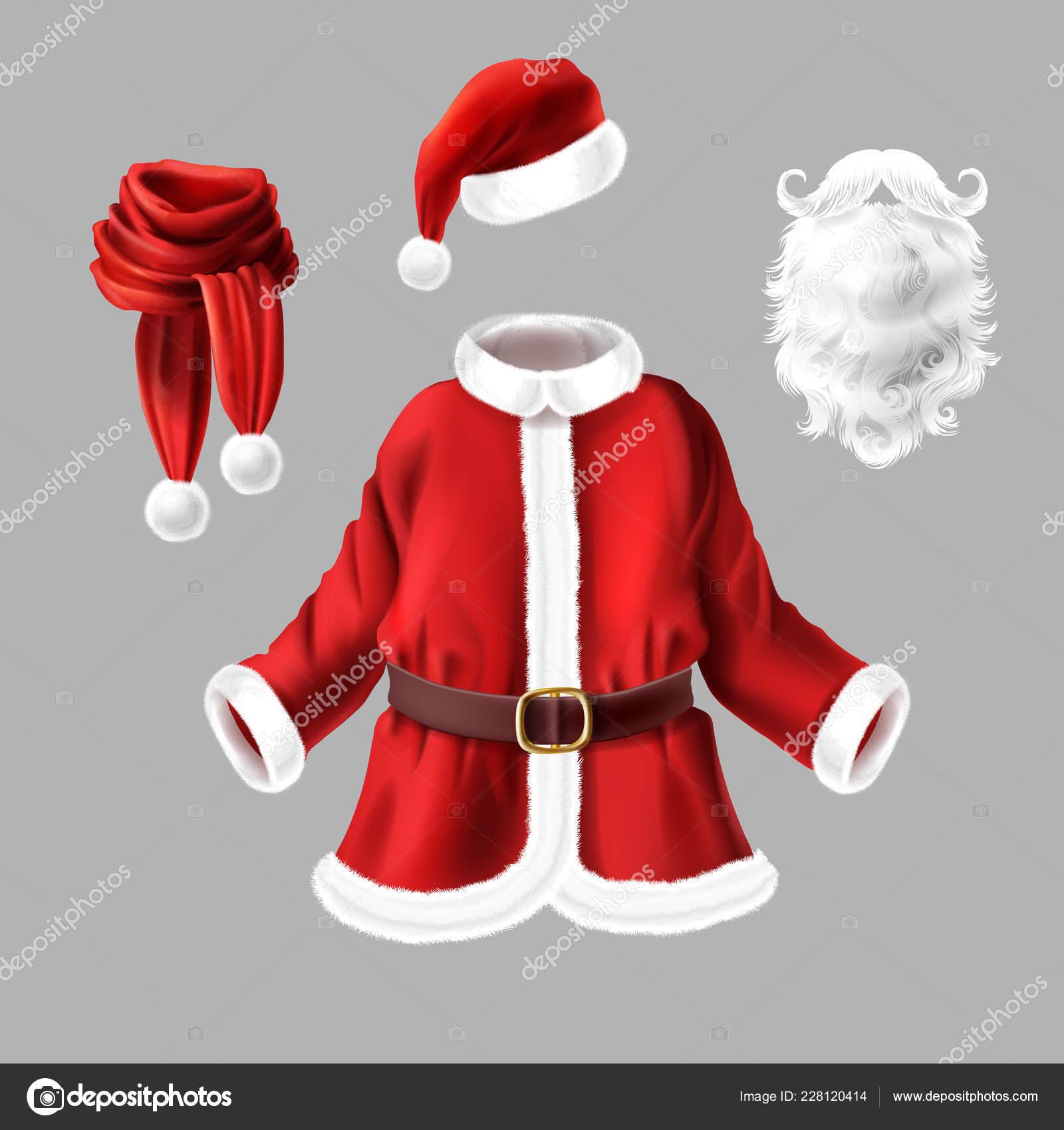 035cb970353 Vecteur Avec Costume Père Noël Pour Fête Costumée Isolé Sur — Image ...