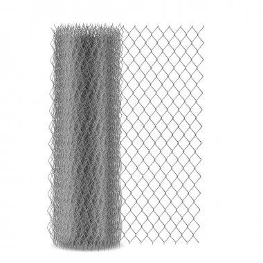 Chain link mesh fencing, rabitz in roll vector