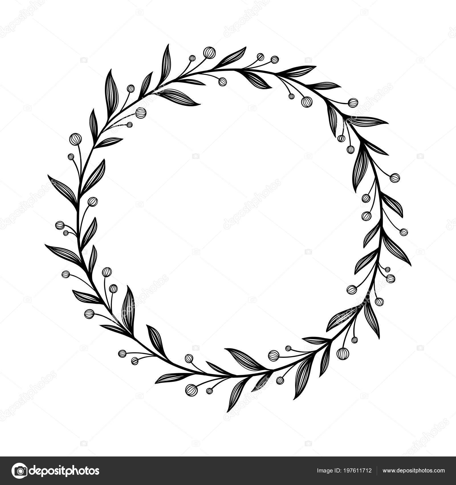 Floraler Rahmen. Einzigartiger Dekoration für Grußkarte ...