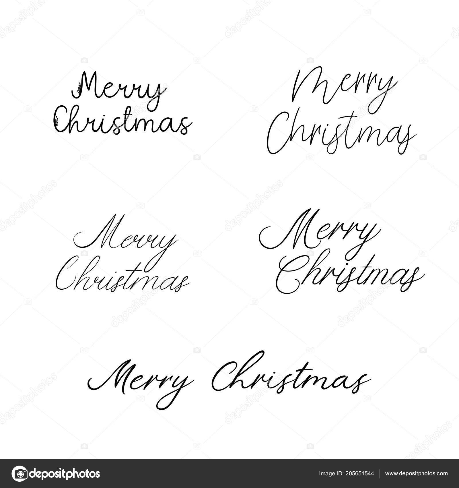 Feliz Navidad Caligrafía De Vacaciones Cepillo Mano Letras