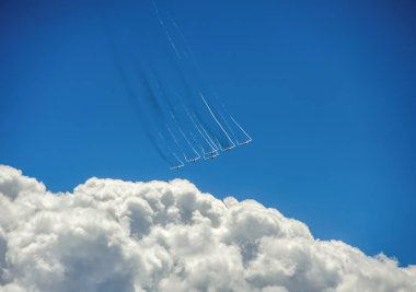 Su-27 military aircraft in the sky
