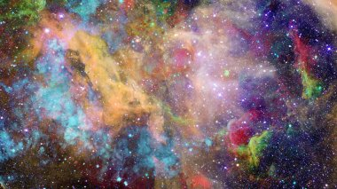 Beautiful nebula and Galaxy. Elements of this Image Furnished by NASA.