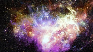 Galaxy and nebula. Magical background. Elements of this Image Furnished by NASA