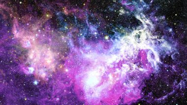 Beautiful nebula and galaxy star. Elements of this Image Furnished by NASA.