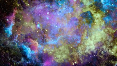 Beautiful nebula and space galaxy. Elements of this image furnished by NASA.