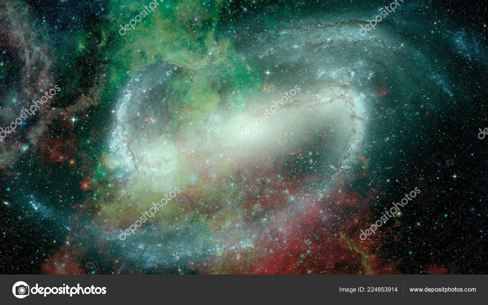 Abstract Bright Colorful Universe Nebula Night Starry Sky Rainbow