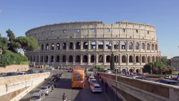 ROME, ITALY - CIRCA May 2018: Panorama of Colosseum in Rome, Italy. Ancient amphitheater Coliseum