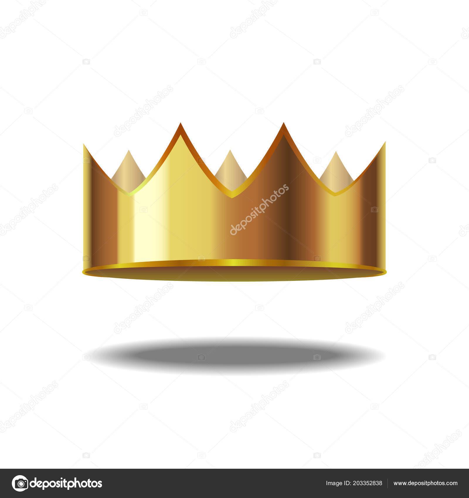 Realistic Detailed 3d Golden Crown Vector