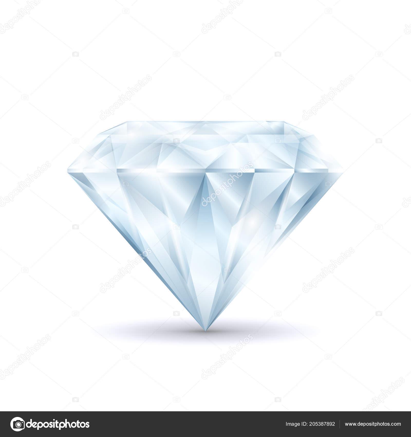 f2203b5ed4c7 Símbolo 3d detallado realista de la brillante diamante brillante de cristal  precioso lujo y tesoro. Ilustración de vector de brillante — Vector de ...