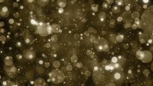 Částice zlata bokeh glitter ocenění prach abstraktní pozadí smyčky