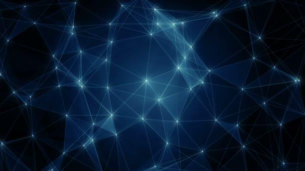 Plexus abstrakte Netzwerk-Business-Technologie Wissenschaft Hintergrundschleife