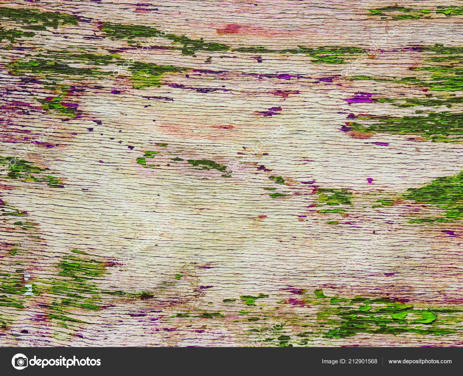 Texture Arbre Avec Des Résidus Peinture Vert Violet — Photographie ...