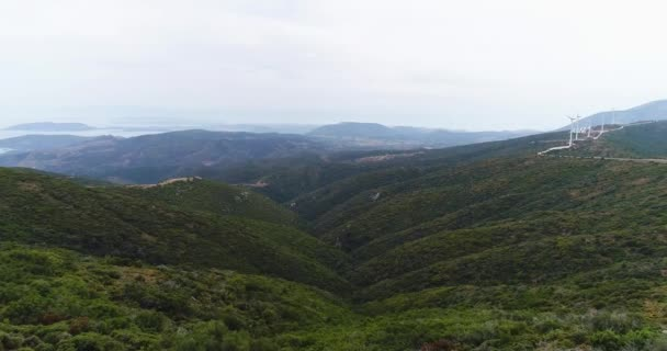 Beautiful landscape of the summer mountains near the Temple of Artemis 4k, slowmotion