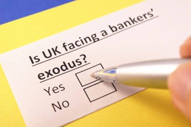 Is UK facing a banker's exodus? Yes or no?