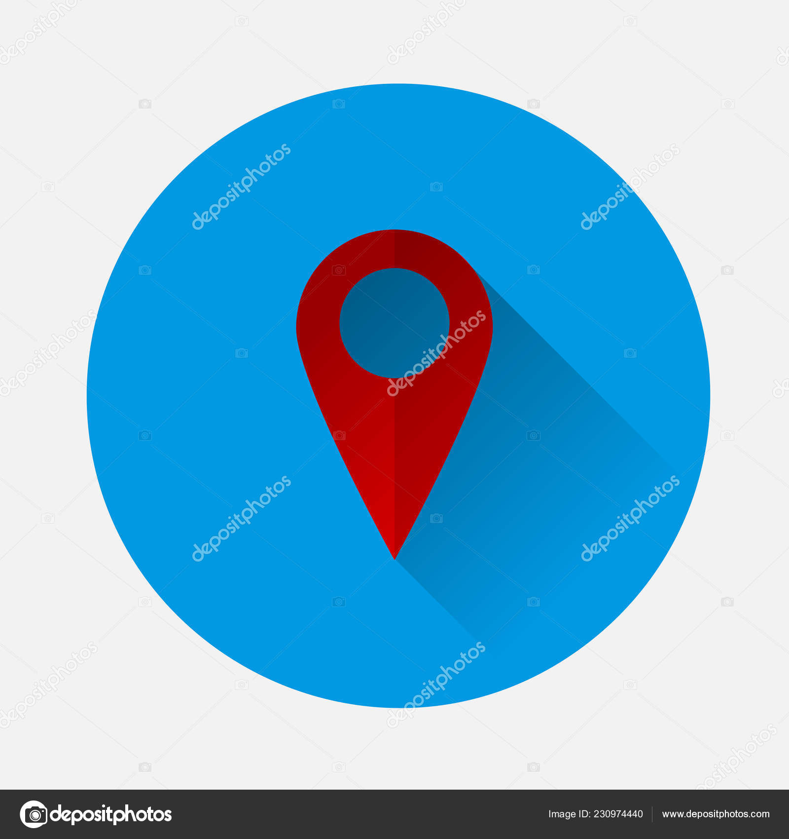 Icon: positioning map | Vector Positioning Map Icon Blue
