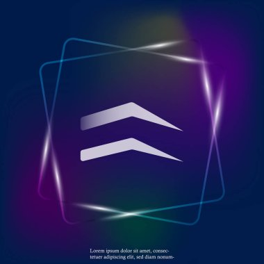 Vector neon light eyebrow icon.  Layers grouped for easy editing illustration. For your design.
