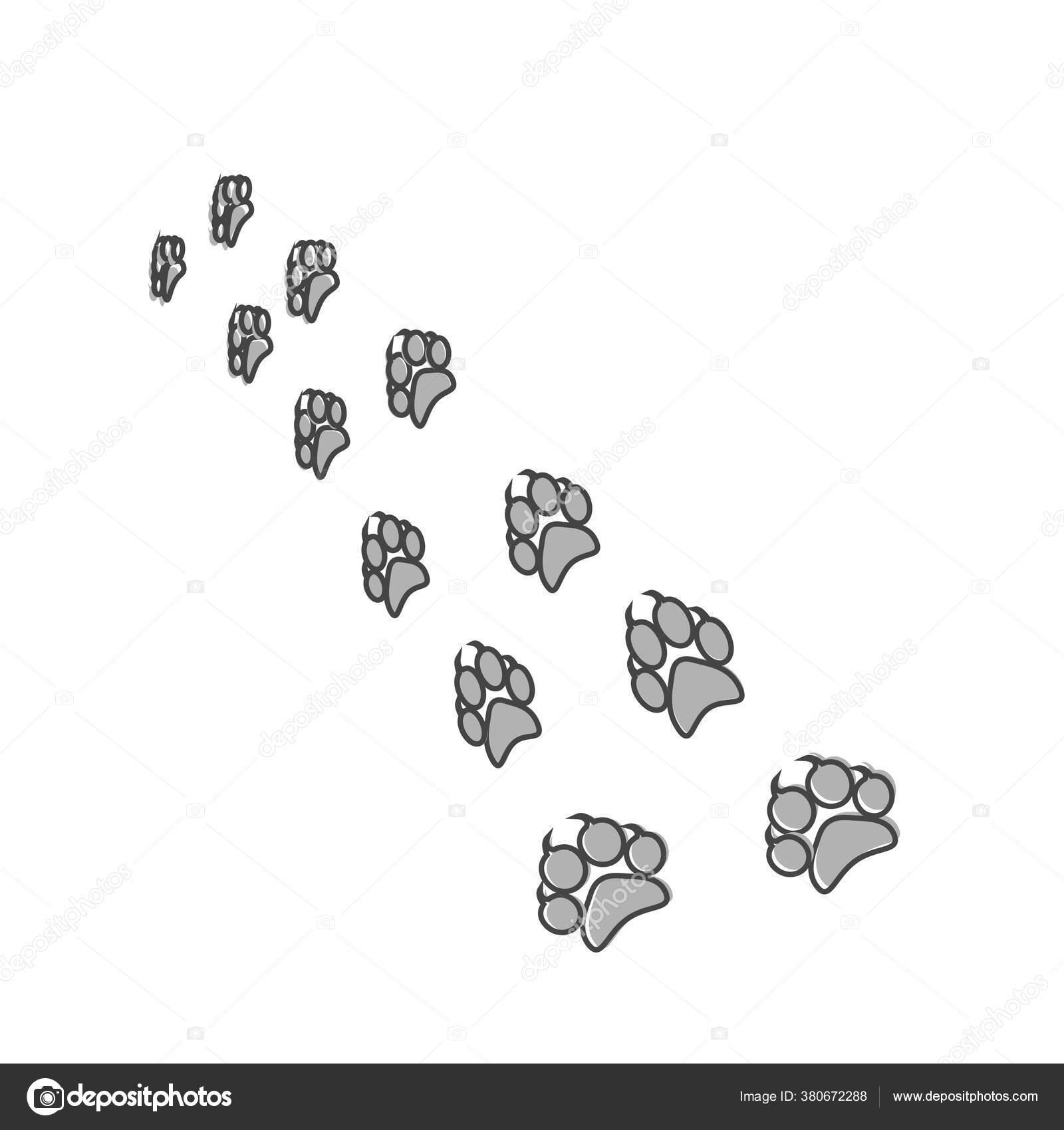 Ikon Vektor Jejak Kaki Hewan Gaya Gambar Cakar Kartun Pada Stok Vektor C Oksanaoo 380672288