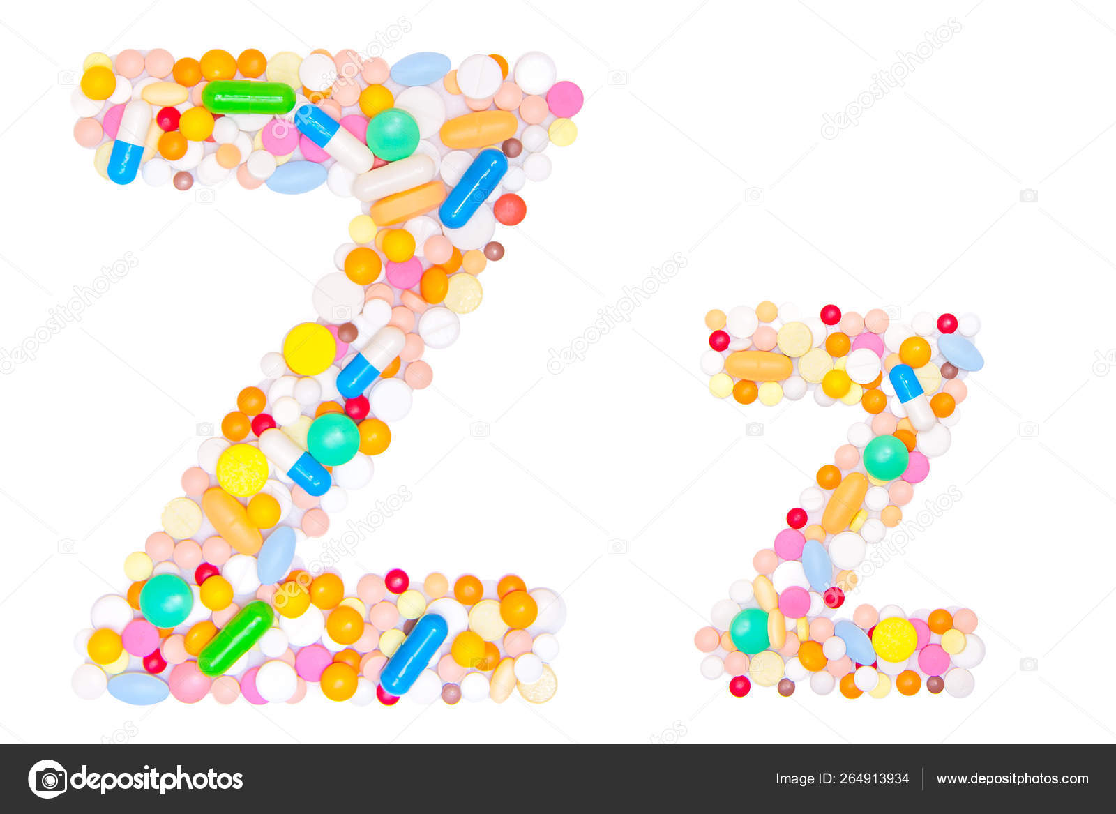 Letter English Alphabet Made Collected Medical Tablets Pills