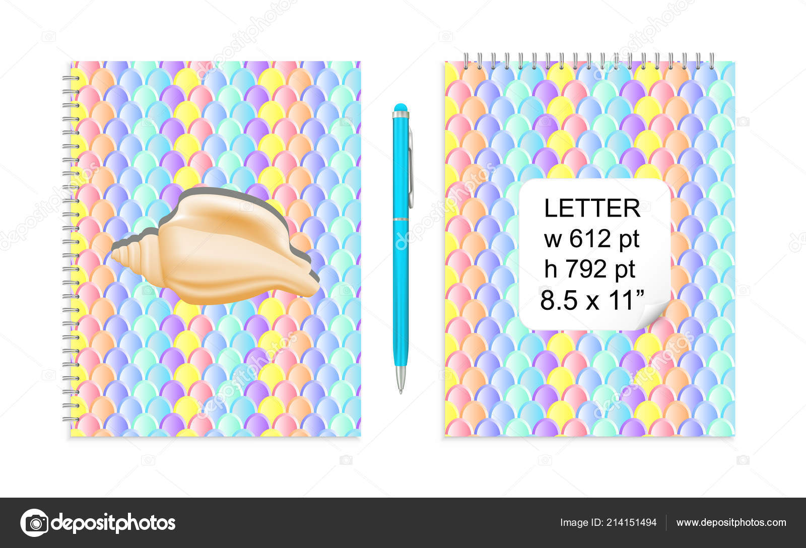 Vector Letter Mockup Mermaid Tail Scales Pattern Children Trendy