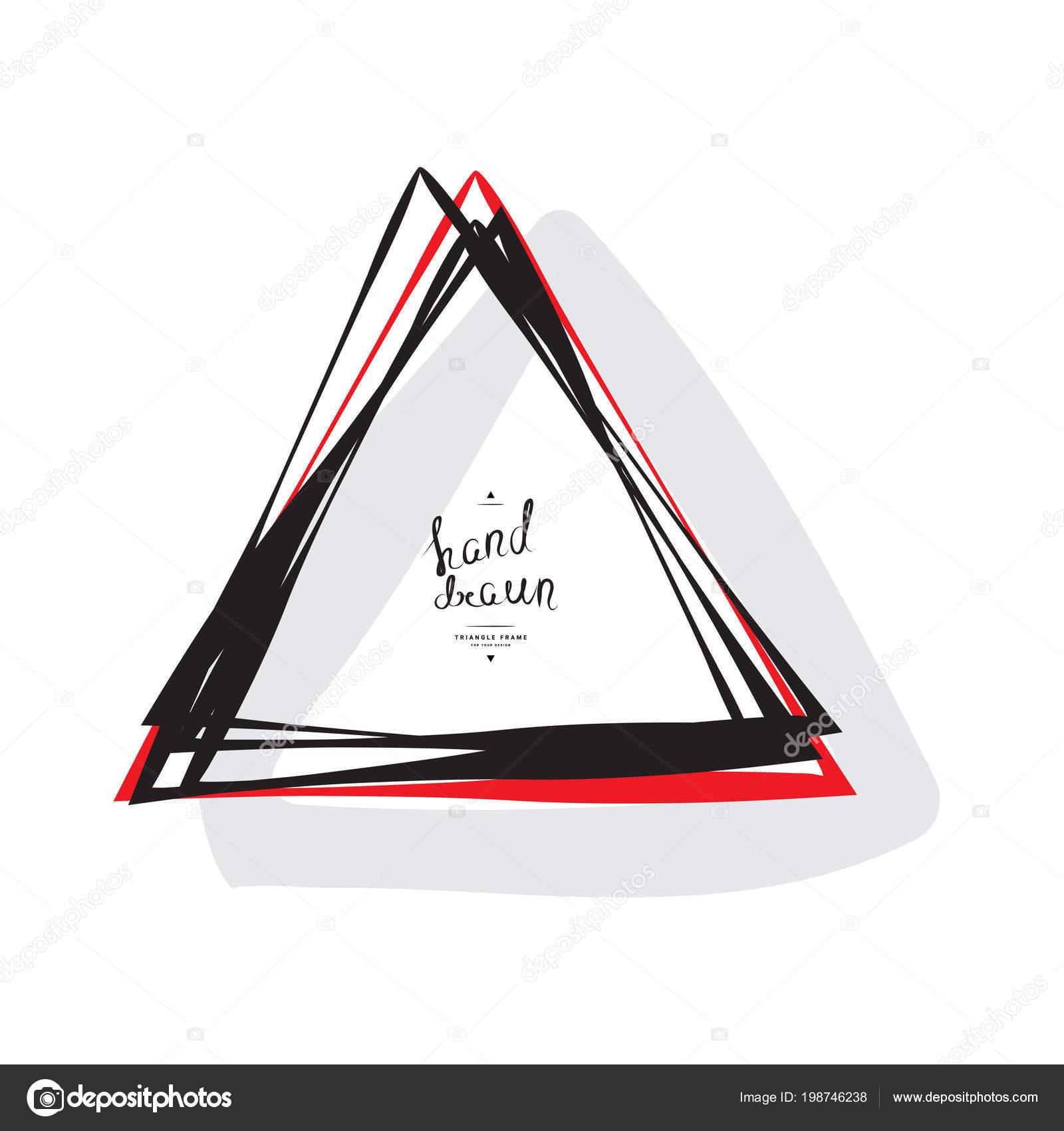 Handgezeichnete Dreieck Rahmen Mit Platz Für Text Isolated White ...
