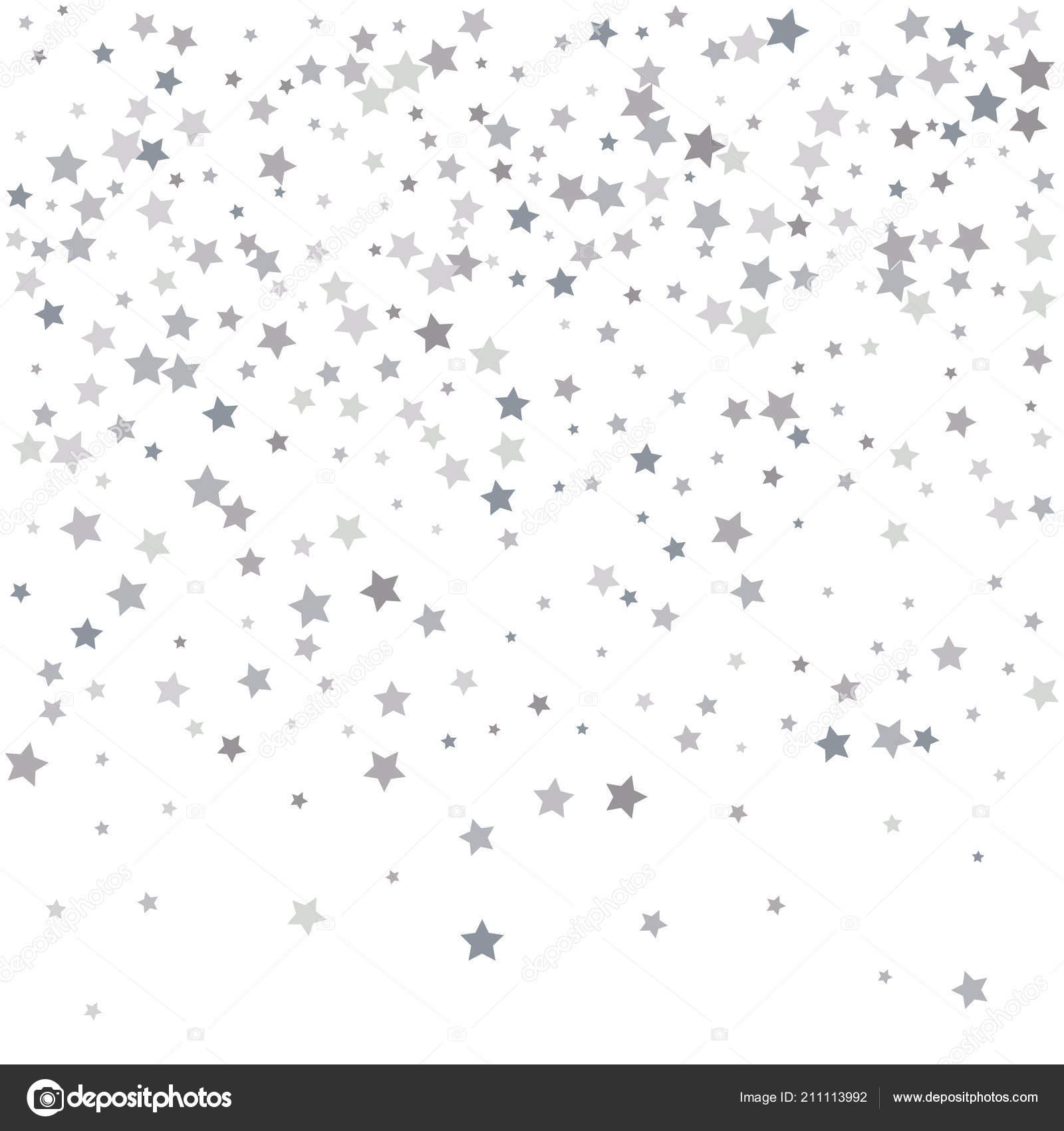 Silber Glitzer Sternschnuppen Silber Funkeln Sterne Auf Weißem