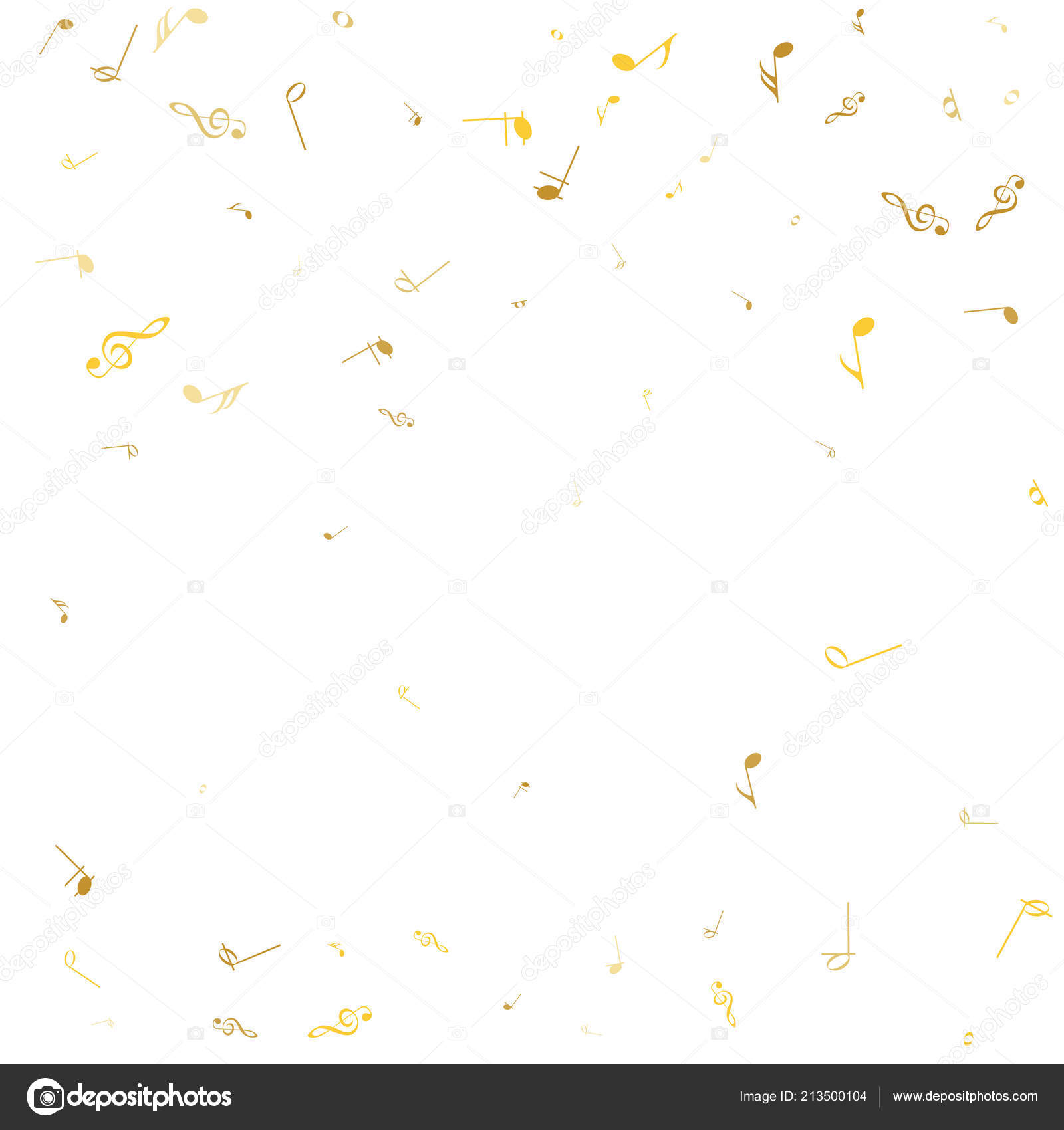 Music Notes Abstract Musical Background Vector Illustration Golden