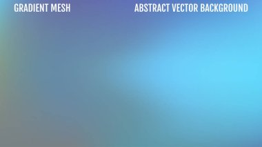Abstract blurred gradient mesh background in blue colors. Smooth