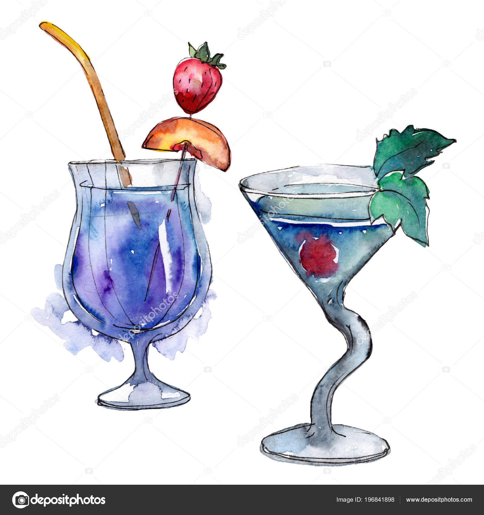 Manhattan Bar Party Cocktail Drink Nightclub Isolated Icon Sketch Drawing Stock Photo Image By C Mystocks 196841898