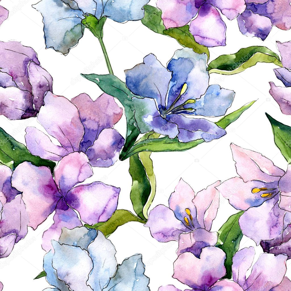 Imagesthai royalty free stock images photos illustrations purple and blue alstroemeria flowers seamless background pattern fabric wallpaper print texture izmirmasajfo