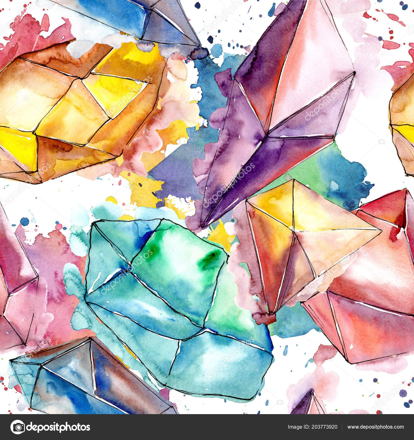 33c2bb1fd Színes Gyémánt Rock Ékszerek Ásványi Varratmentes Háttérben Minta ...