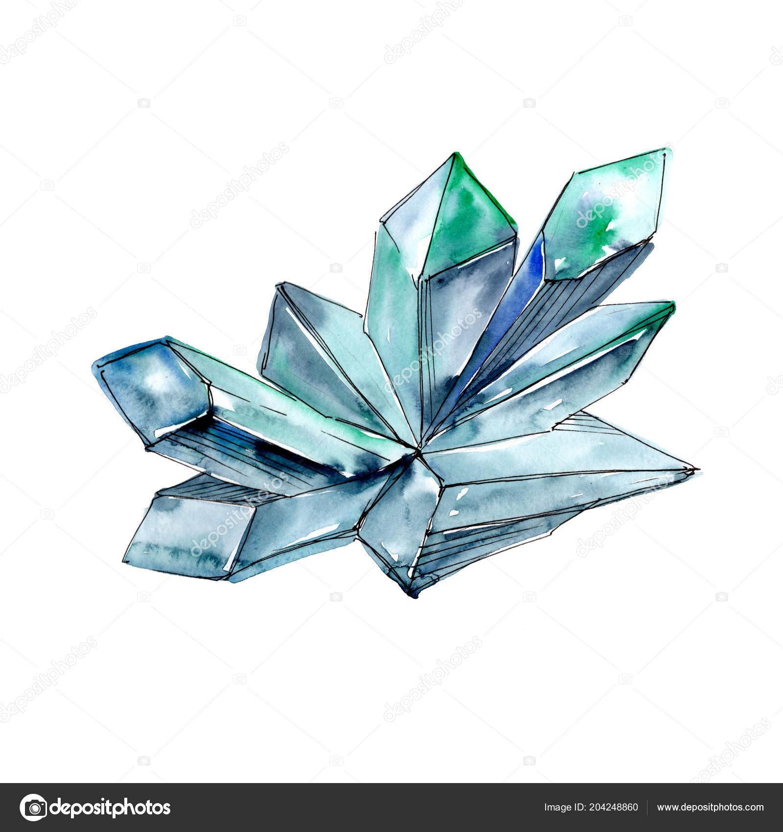 d316e095b Kék Gyémánt Rock Ékszerek Ásványi Elszigetelt Ábra Elemet Geometriai ...
