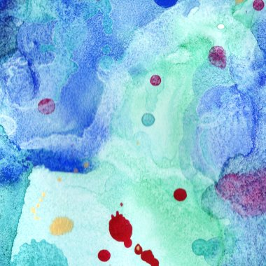 Abstract watercolor paper splash shapes isolated drawing. Illustration aquarelle for background.