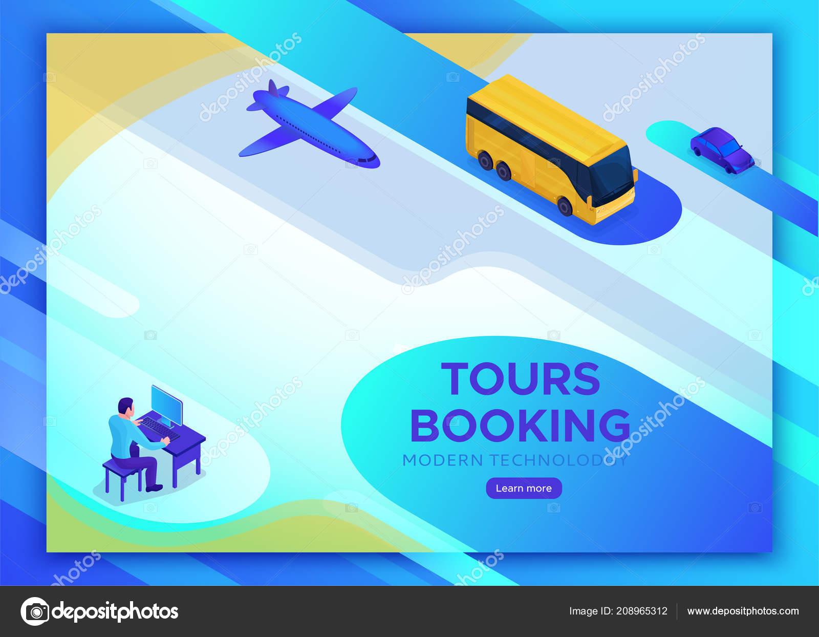 Smartphone travel online service, mobile transportation landing page