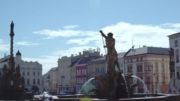 Olomouc, Česká republika září 2018. pohled z Neptunovy kašny