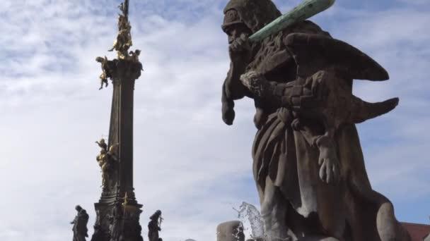 Sloup Nejsvětější Trojice na hlavním náměstí starého města Olomouc, Česká republika