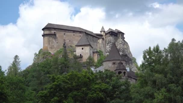 slavný Orava hrad ve skále, Slovensko.
