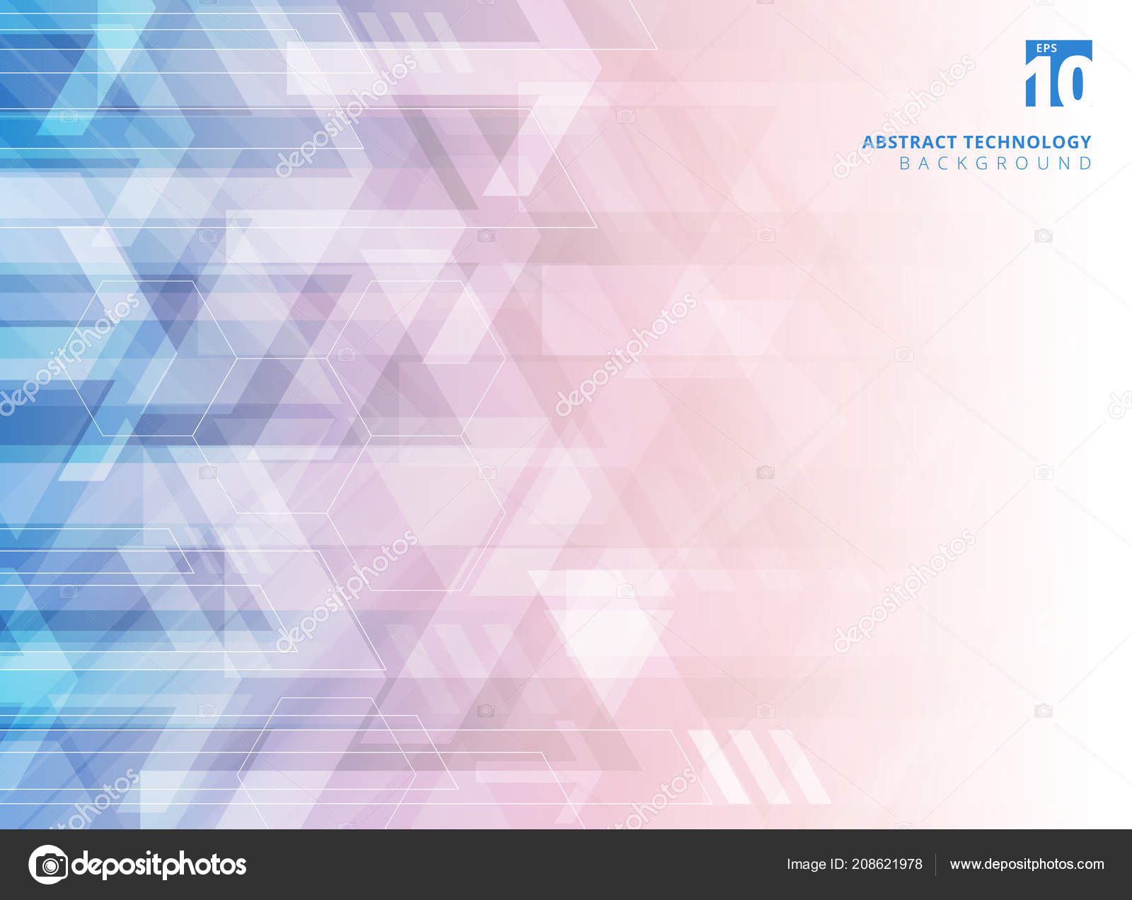 Abstract Technology Geometric Corporate Arrows Gradient Blue