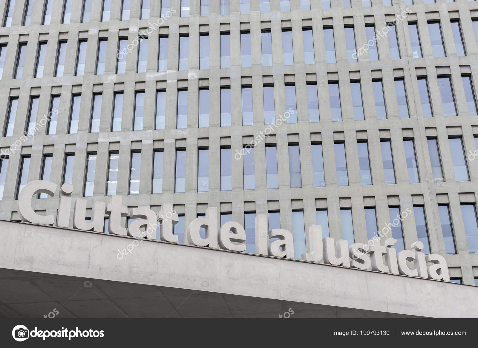 Modern Architecture Ciutat Justicia Barcelona Hospitalet David