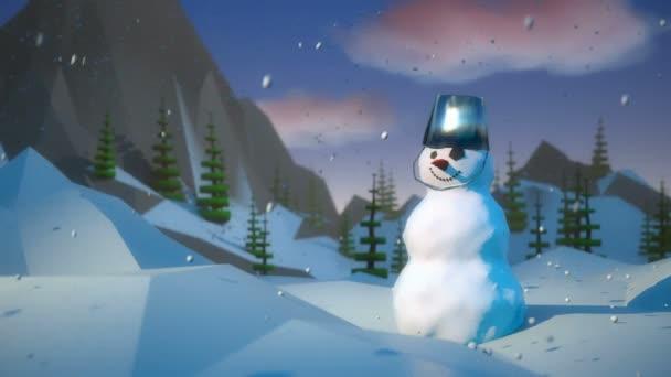 Toon sněhulák 3d animace