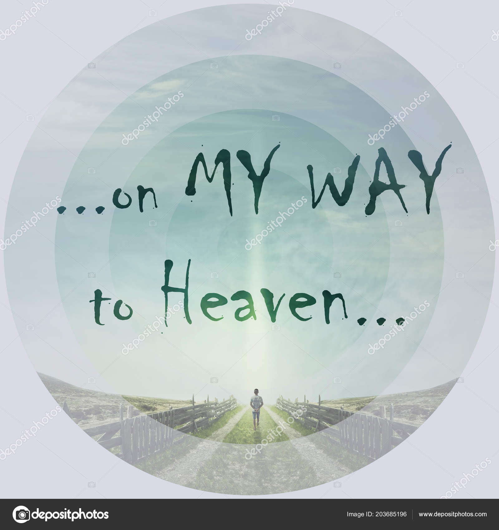 Picture: man walking to heaven | Inspirational Words Way